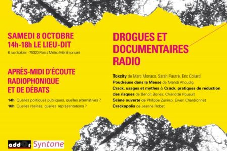 "flyer ""drogues et documentaires radio"""